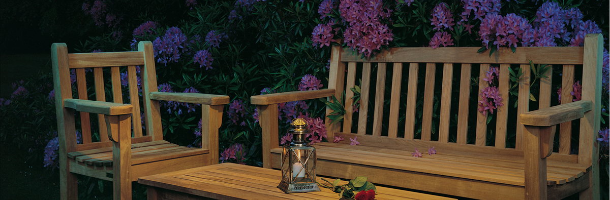 Clifton Nurseries Barlow Tyrie London Teak Bench Garden Set