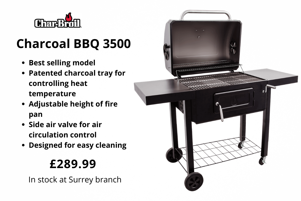 Char-Broil Charcoal BBQ 3500 from Clifton Nurseries