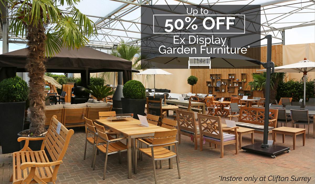 Clifton Nurseries ex-display garden furniture sale