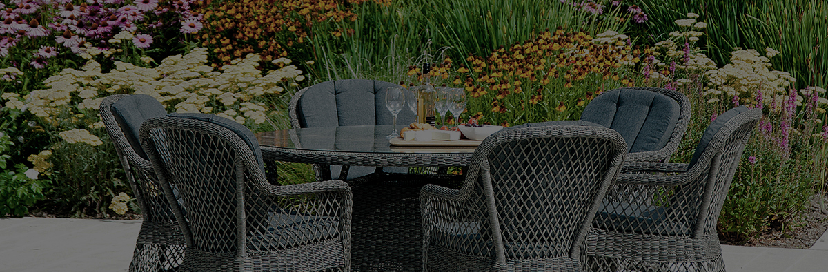 Clifton Nurseries alexander rose monte carlo outdoor weave 6 seater dining set