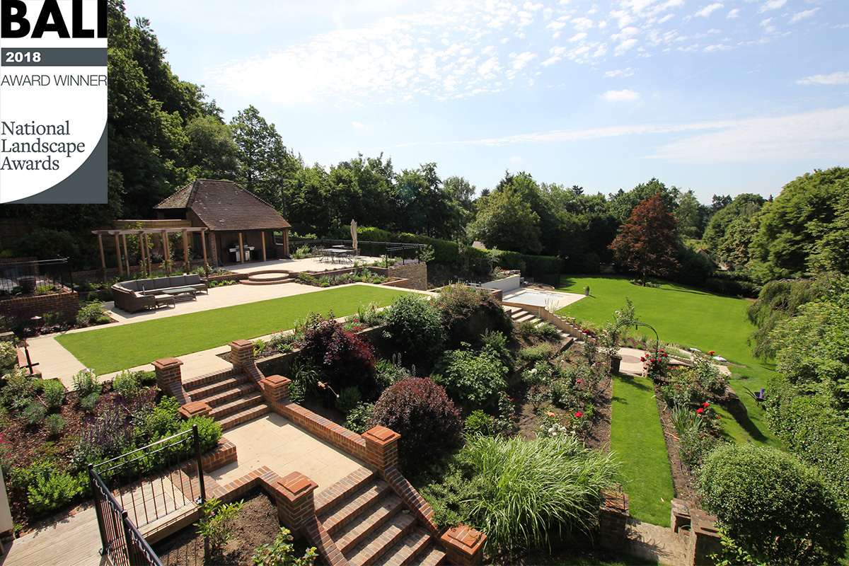 Clifton Nurseries BALI Award Winner 2018 for Garden Construction