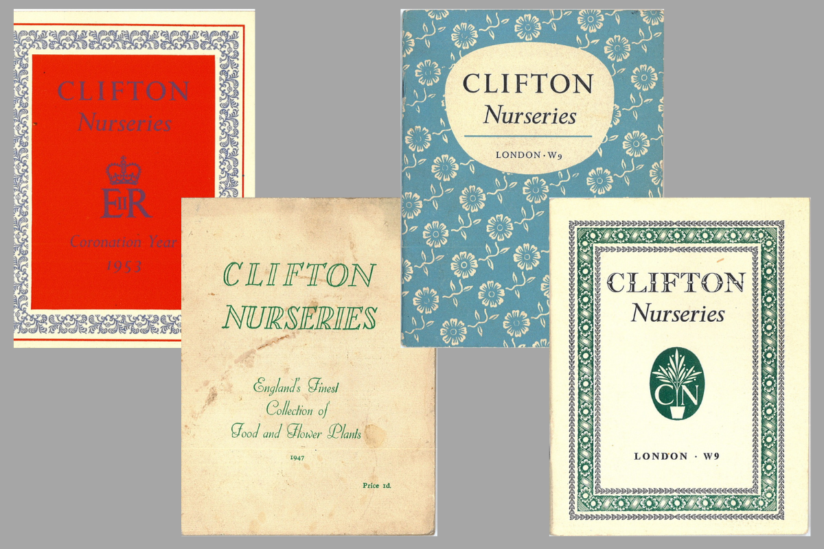 Clifton Nurseries old plant catalogues
