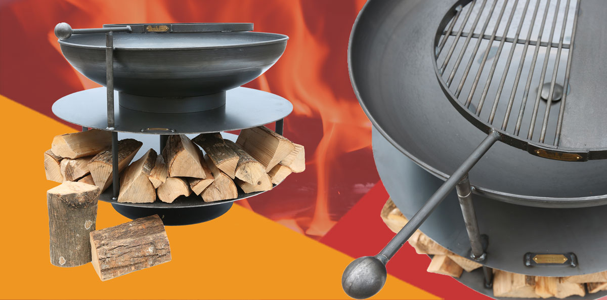 Steel Firepits from Clifton Nurseries