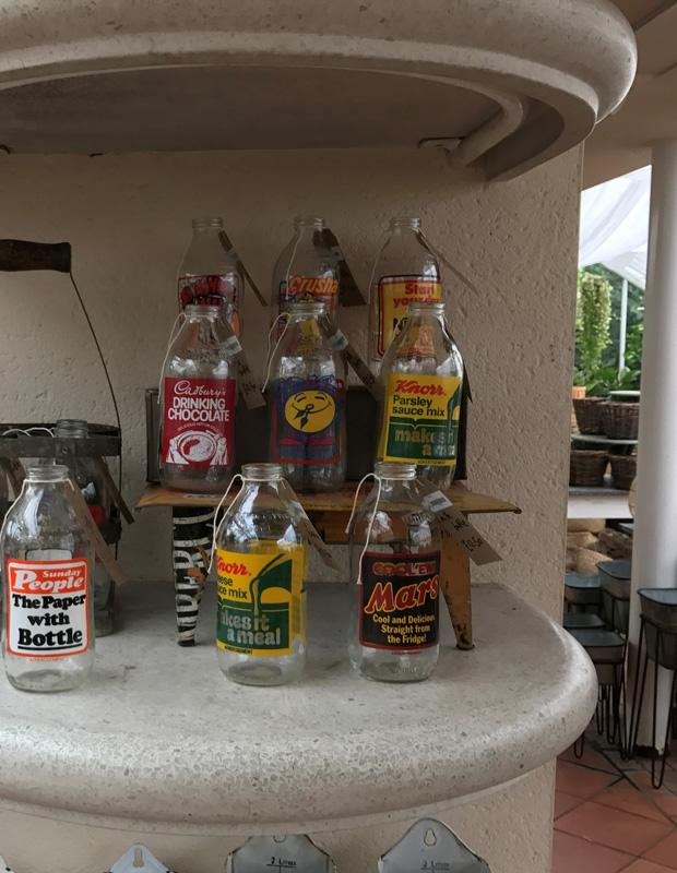Heirloom milk bottles