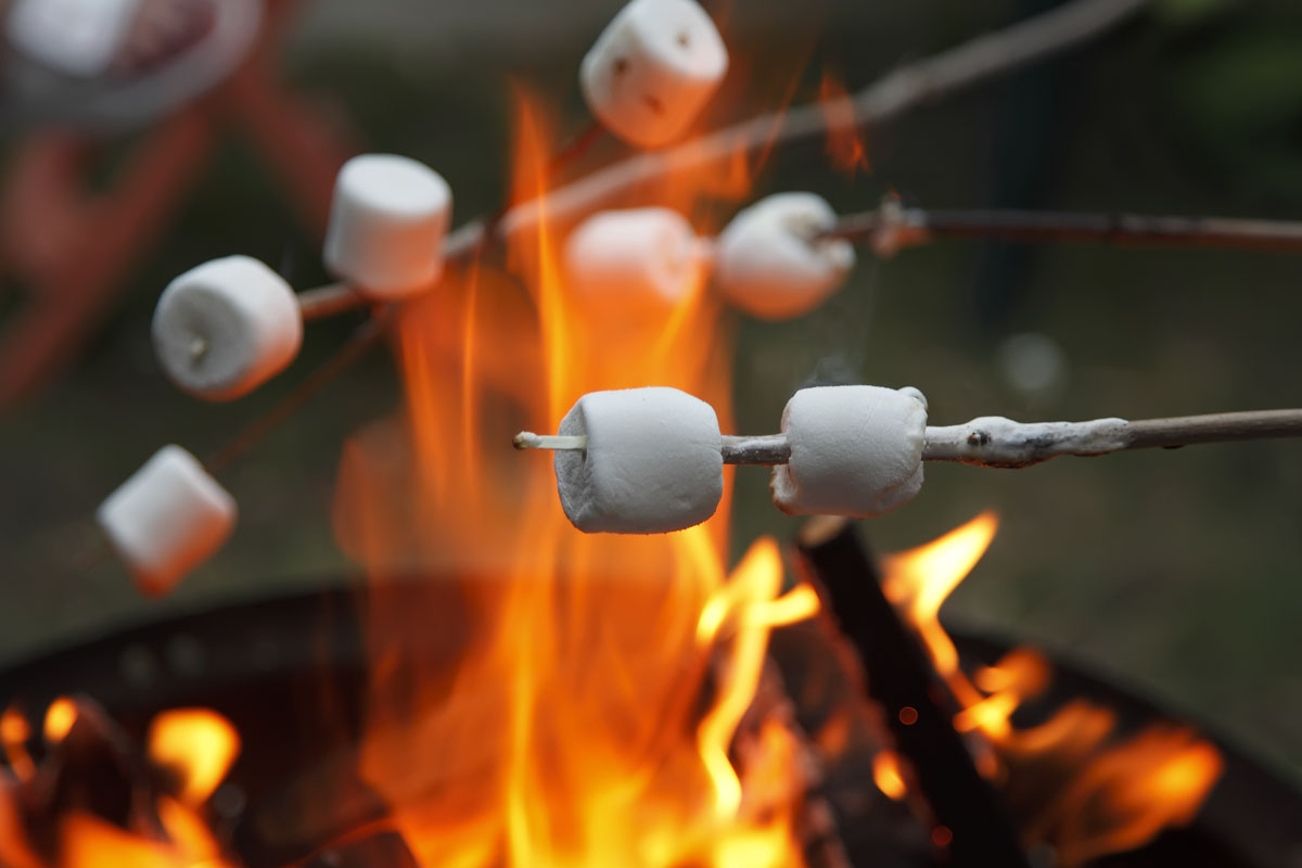 Clifton Nurseries - Toasting Marshmallows on a Firepit