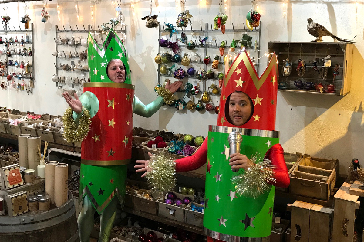 Going crackers at Clifton Nurseries!