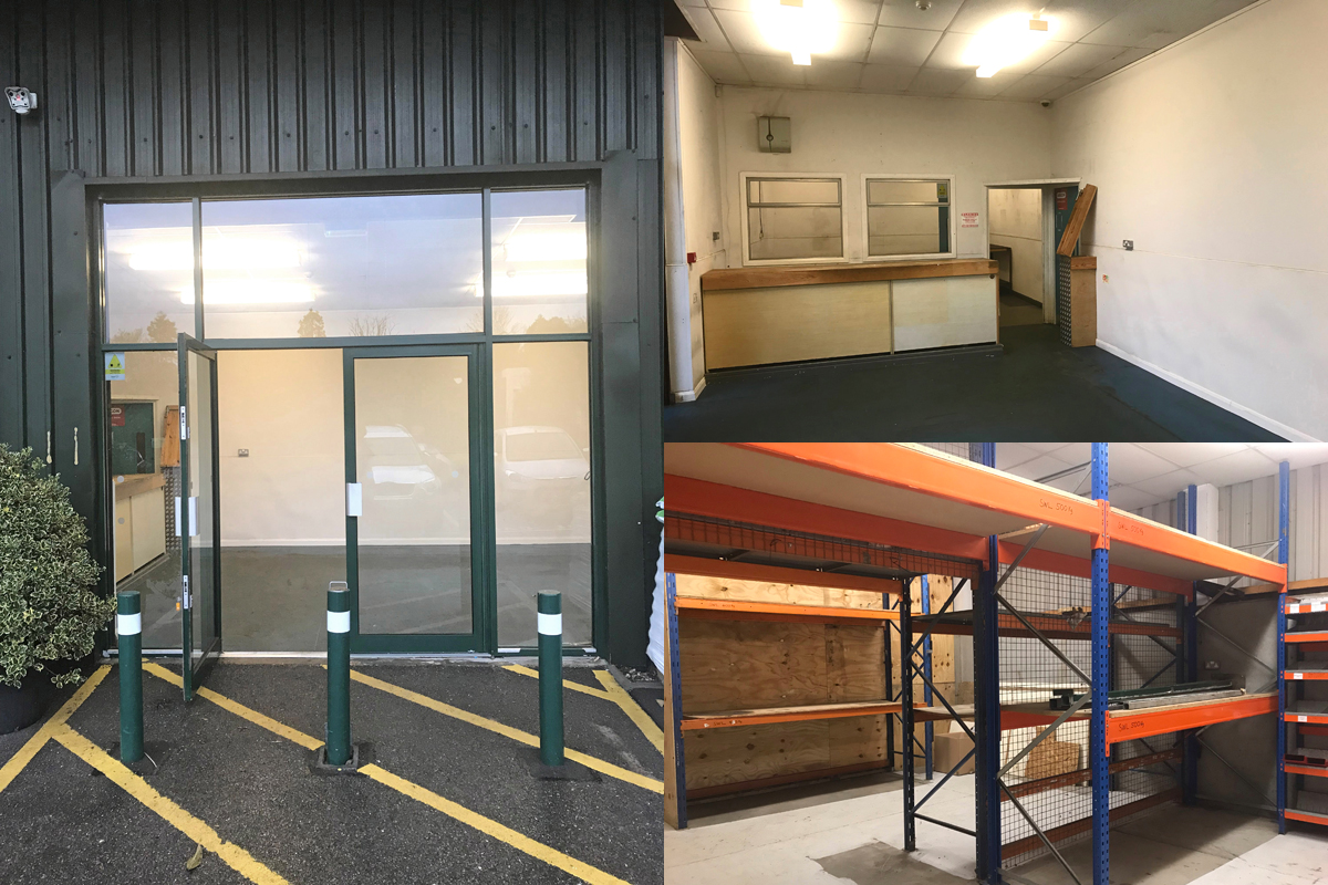 Retail unit and storage space to let