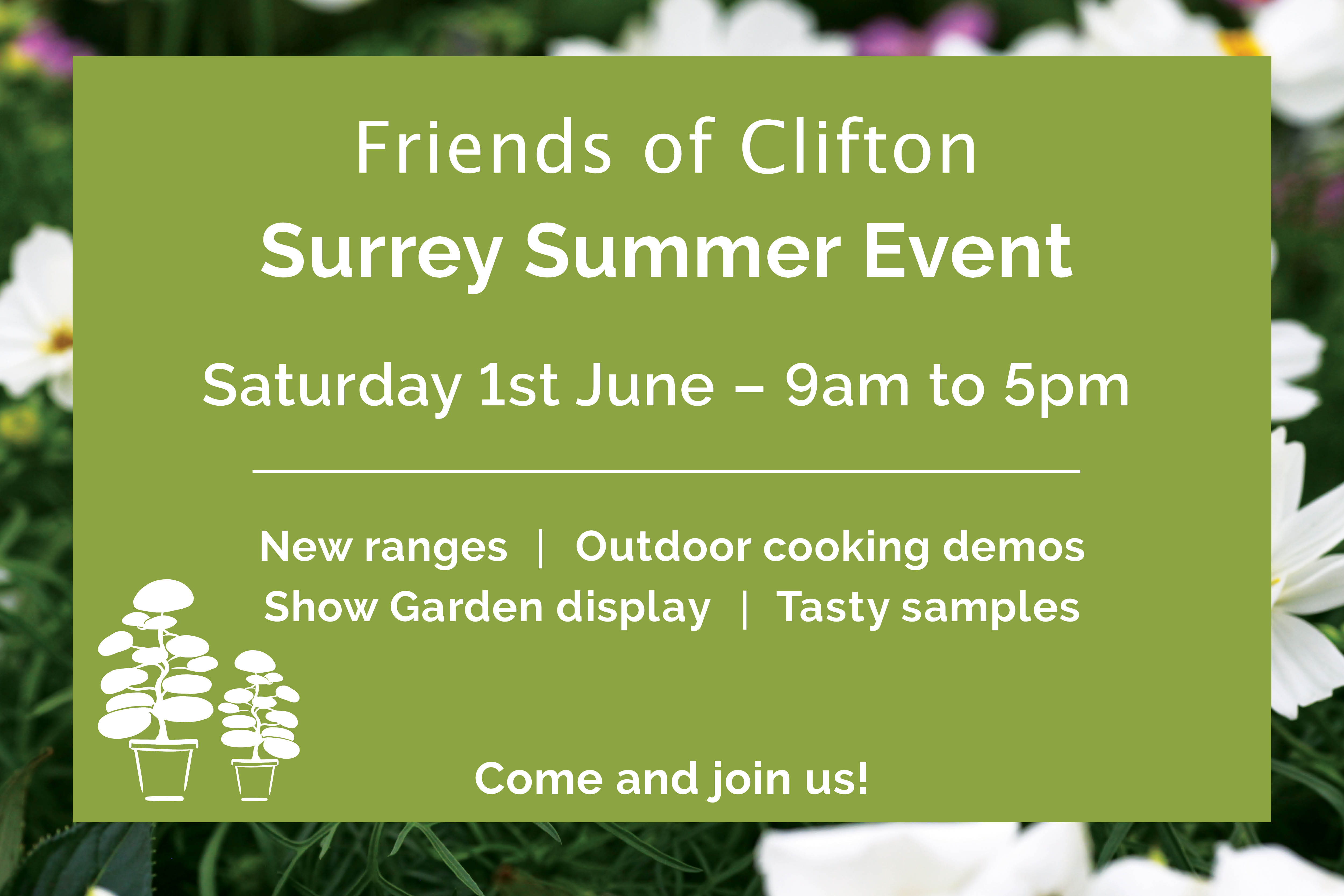 Clifton Nurseries Surrey Summer Event - 1st June