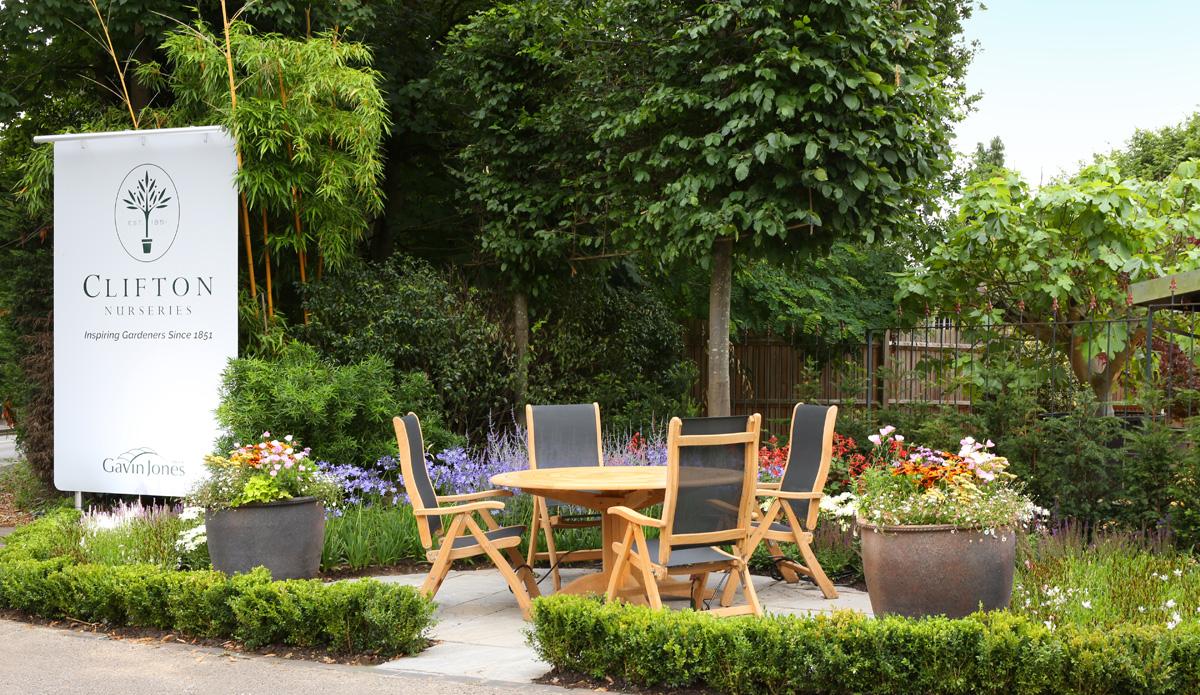 Clifton Nurseries Surrey front entrance display garden
