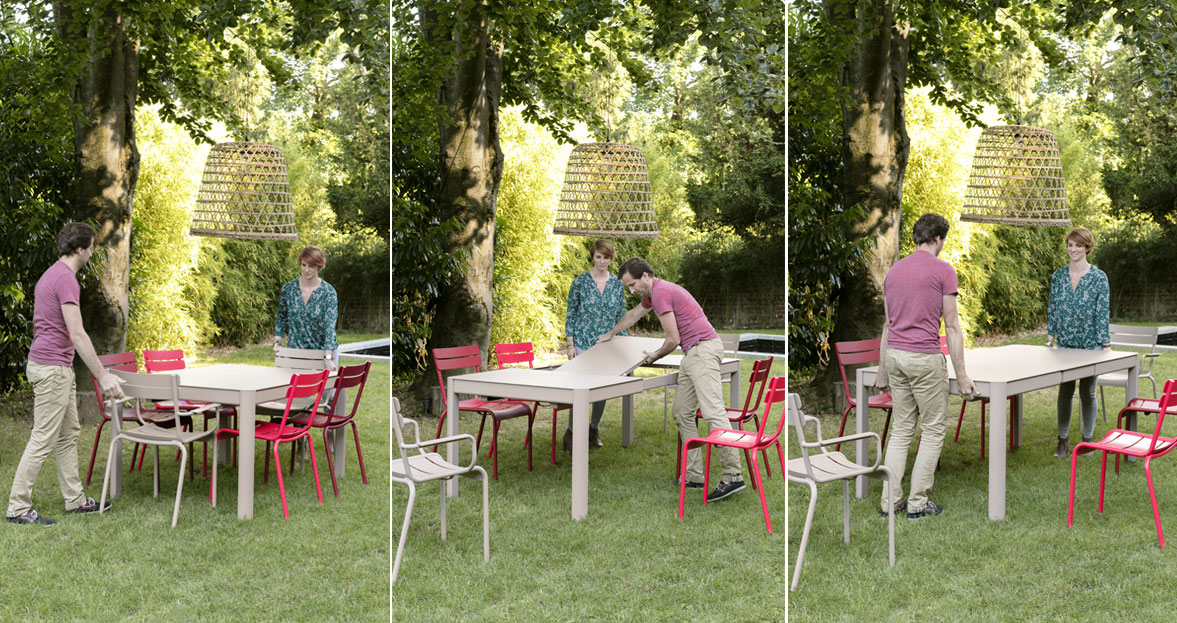 Easy to extend Fermob Ribambelle Table