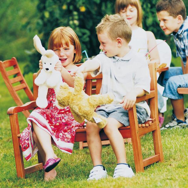 Childhood garden fun