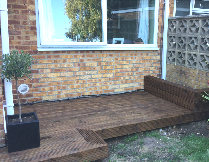 Usable space - New decking for a bistro table
