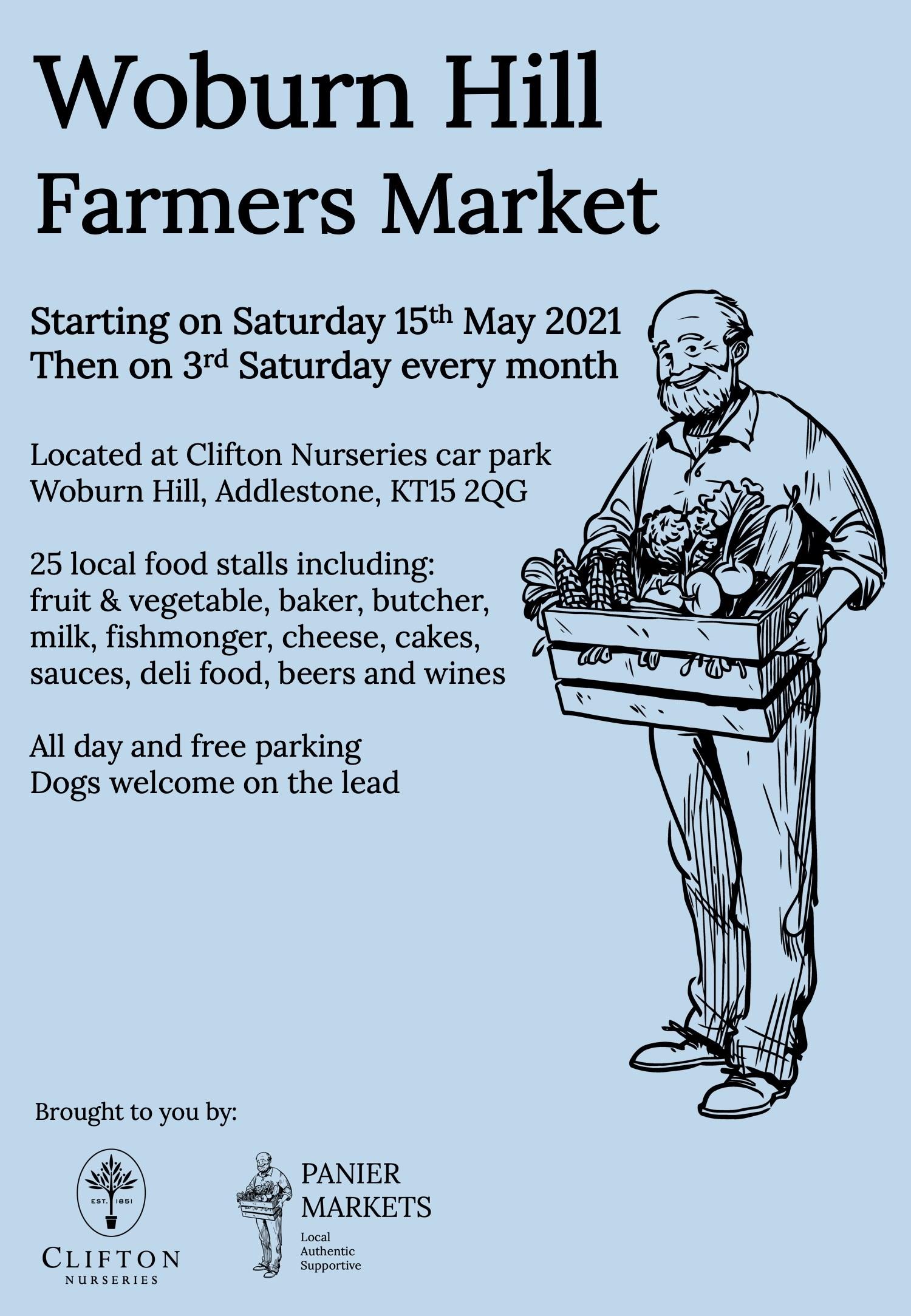 Woburn Hill Farmers Market at Clifton Nurseries Surrey