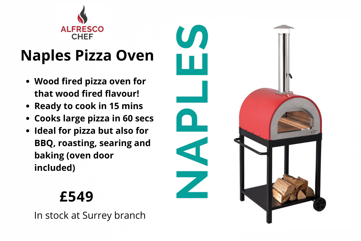 Naples pizza oven from Clifton Nurseries