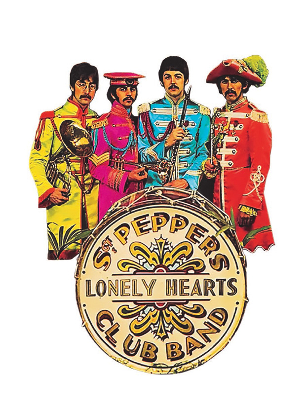 BEATLES SGT PEPPERS LONELY HEARTS CLUB BAND STEEL SIGN ALBUM COVER VINTAGE GIFT