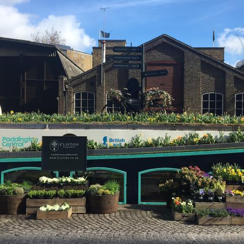 Clifton Nurseries Barge Popup Shop