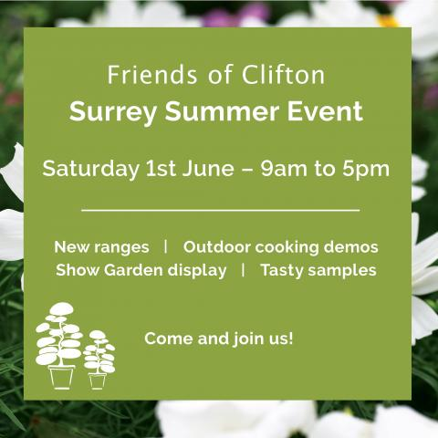 Clifton Nurseries Surrey - Summer Event 1st June