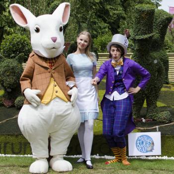 Alice in Wonderland topiary sculptures