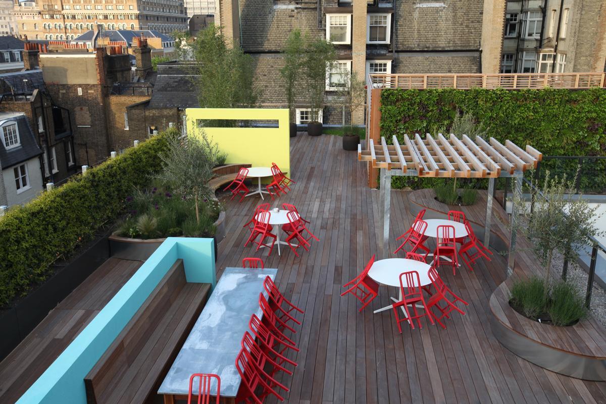Clifton Nurseries Coca Cola Roof Garden Seating Area