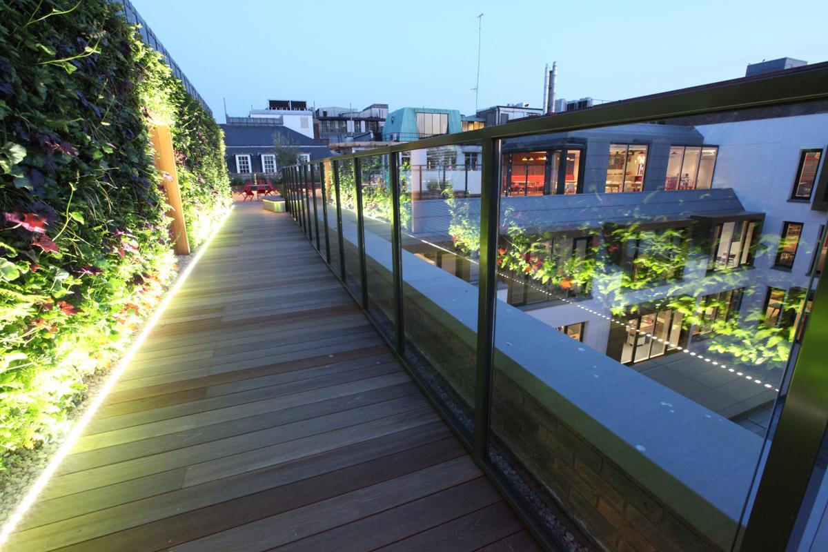 Clifton Nurseries Coca Cola Roof Garden Green Wall