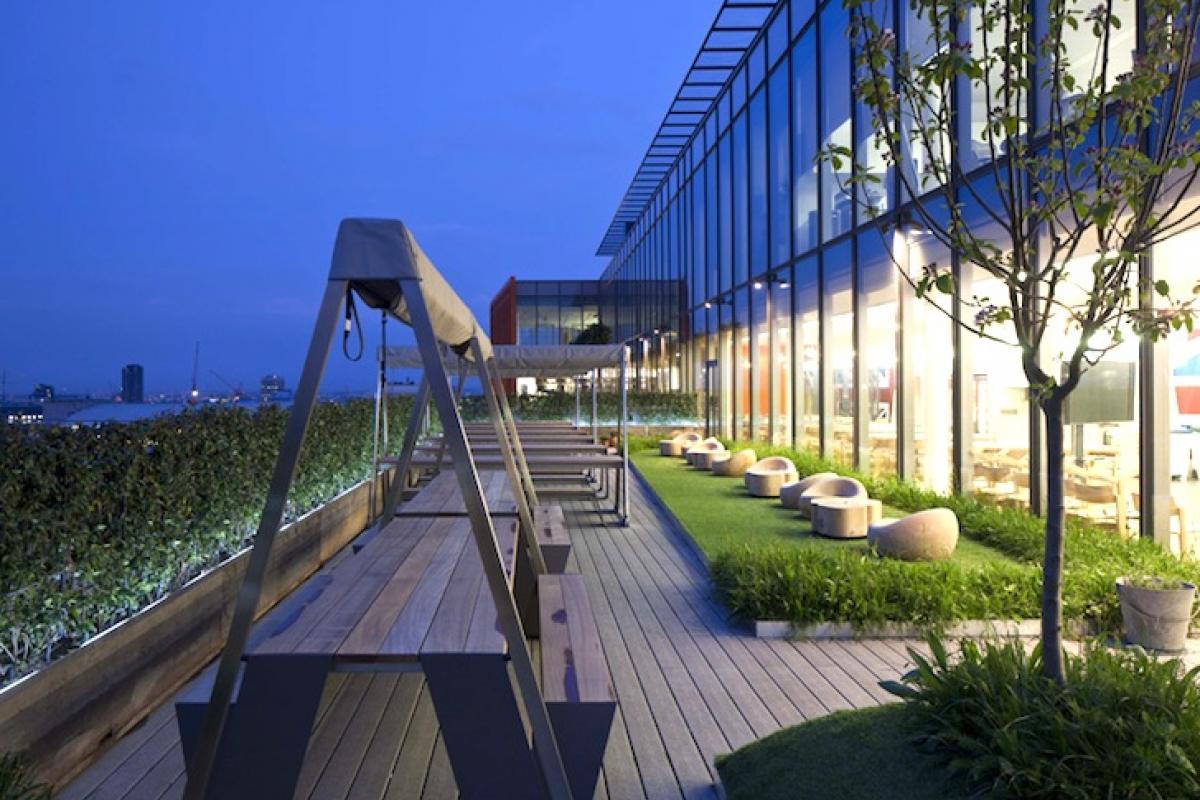 Clifton Nurseries Google Rooftop Terrace