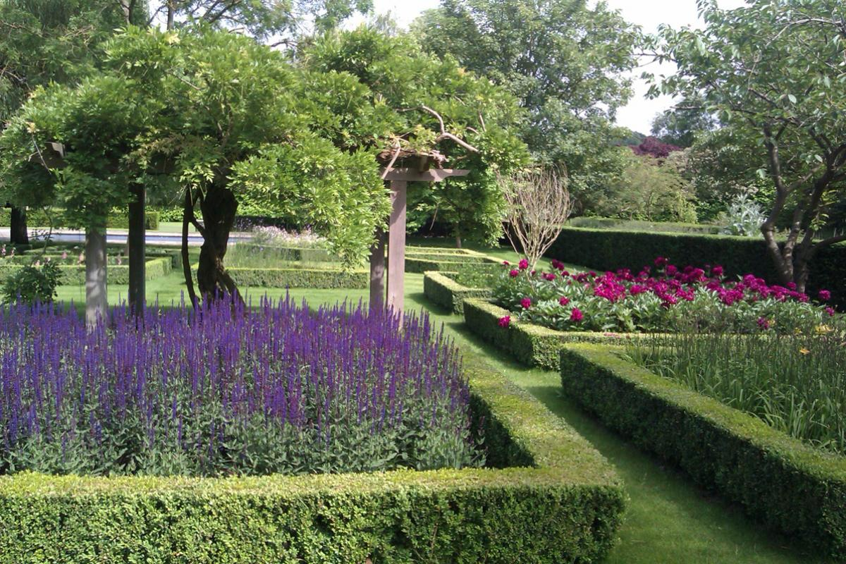 Colourful Borders in Large Country Garden
