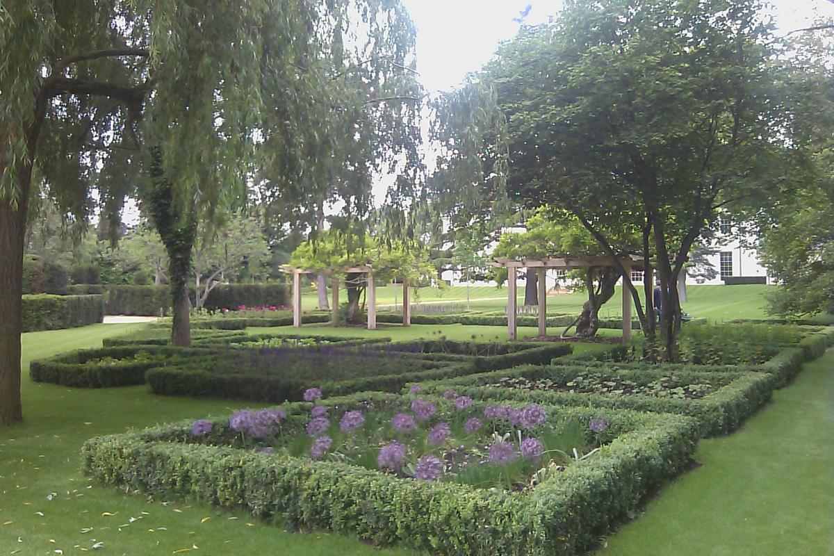 View of Large Country Garden
