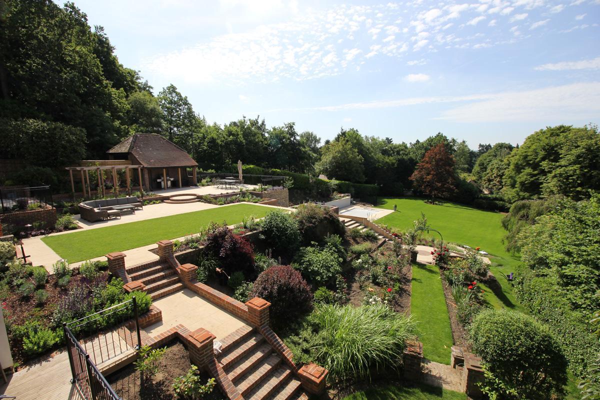 Large Surrey Garden Overview