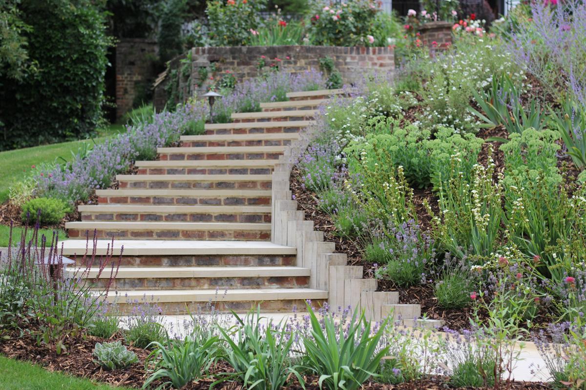 Large Surrey Garden Garden Steps