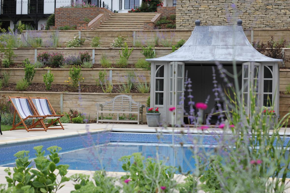 Large Surrey Garden Swimming Pool