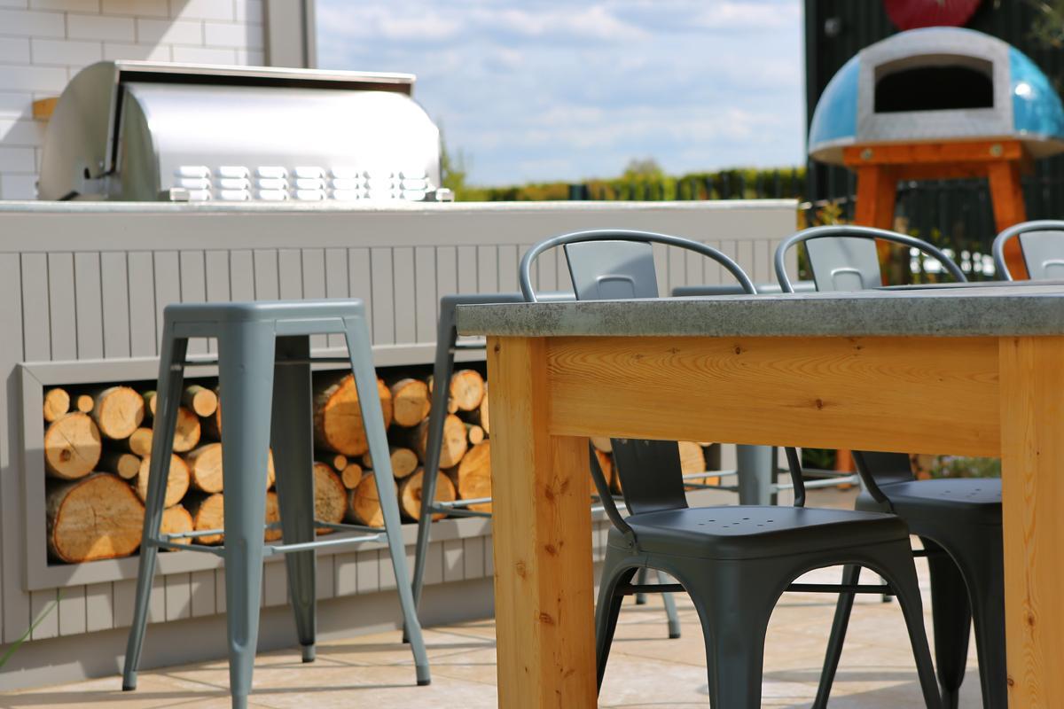 Clifton Nurseries Surrey Show Garden Outdoor Kitchen
