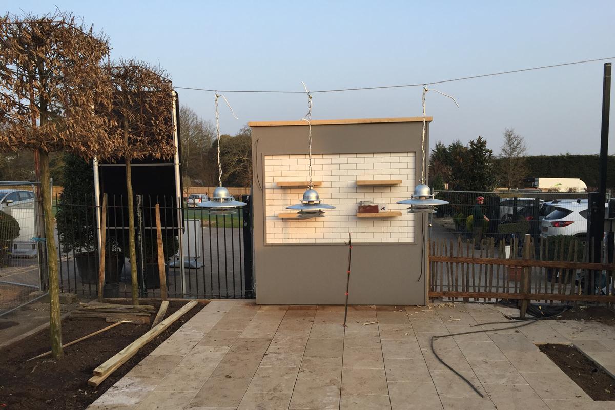 Clifton Nurseries Surrey Outdoor Kitchen Work in Progress