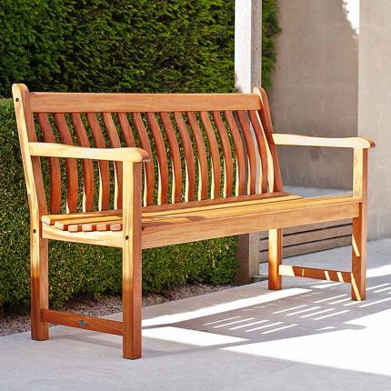 Alexander Rose Cornis Broadfield hardwood 5ft bench 3 seater