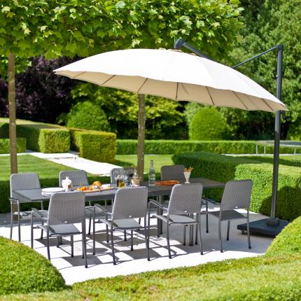 clifton nurseries alexander rose round 3.0 meter diameter aluminium cantilever parasol UH30 garden furniture