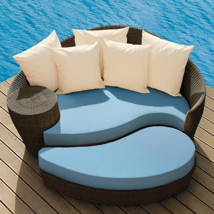 Clifton Nurseries barlow tyrie dune daybed java sky blue cushions