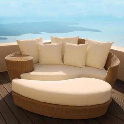 Clifton Nurseries - Barlow Tyrie - Dune Daybed Set Straw Base