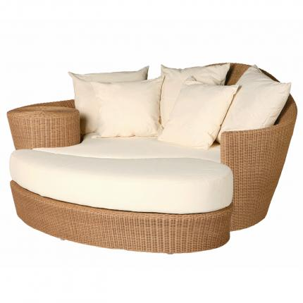 Clifton Nurseries Barlow Tyrie Dune Daybed Straw base White Sand cushions