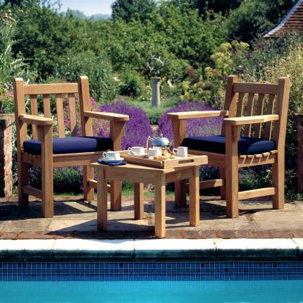 Clifton Nurseries Barlow Tyrie London Plantation Teak Armchair Set