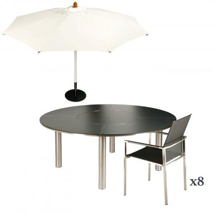 Clifton Nurseries barlow tyrie furniture included in 8 Mercury seater ceramic dining set