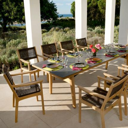 View The Full Image Clifton Nurseries Barlow Tyrie Monterey Teak Ceramic  Outdoor 10 Seater Dining Set