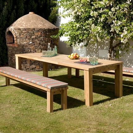 View The Full Image Clifton Nurseries Barlow Tyrie Titan Rustic Teak 10  Seater Outdoor Dining Set