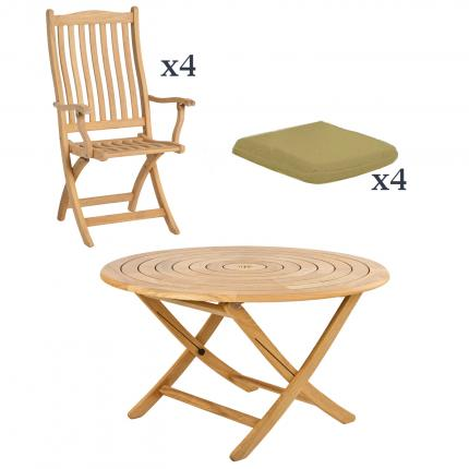 Clifton Nurseries alexander rose 6 seater bengal roble folding dining set outdoor furniture