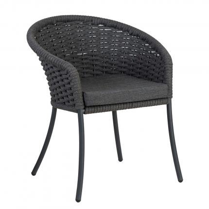 Alexander Rose Cordial Dining Chair with Charcoal Cushion at Clifton Nurseries