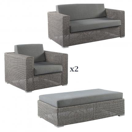 Clifton Nurseries alexander rose monte carlo grey weave outdoor lounge set