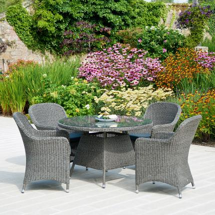 Clifton Nurseries alexander rose monte carlo outdoor dining set weave grey