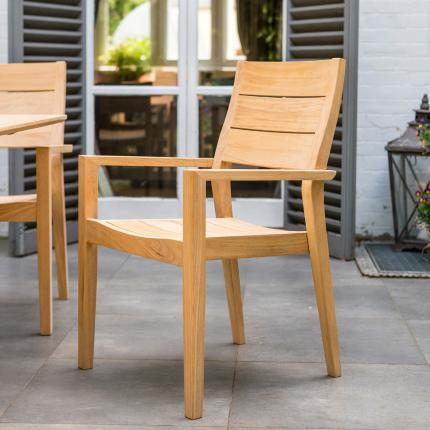 Alexander Rose Roble Stacking Armchair at Clifton Nurseries