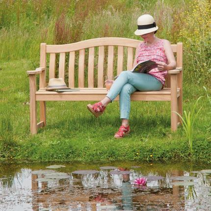 Clifton Nurseries alexander rose turnberry 3 seater bench