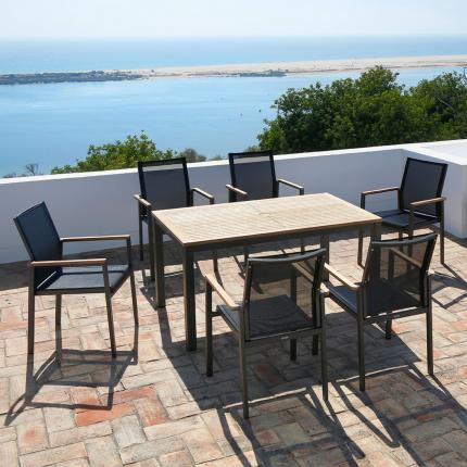 clifton nurseries barlow tyrie aura six seater dining set for outdoor garden furniture