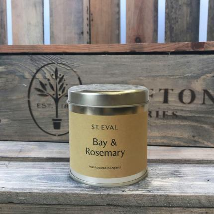 Clifton Nurseries Bay & Rosemary scented Tin Candle