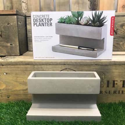 Clifton Nurseries Large Concrete Desktop Planter